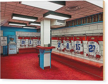 Montreal Canadians Hall Of Fame Locker Room Wood Print