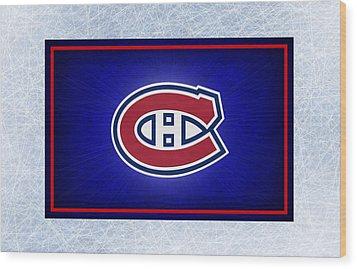 Montreal Canadiens Wood Print by Joe Hamilton