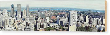Montreal City View From Mont Royal Wood Print by Lingfai Leung