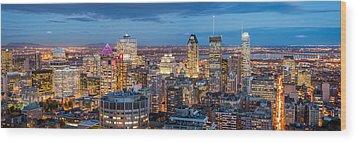 Montreal Panorama Wood Print by Mihai Andritoiu