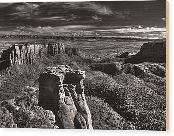 Monument Canyon Monolith Wood Print