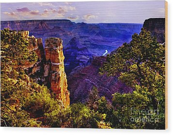 Monument To Grand Canyon  Wood Print by Bob and Nadine Johnston
