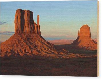 Monument Valley 2 Wood Print by Ayse Deniz