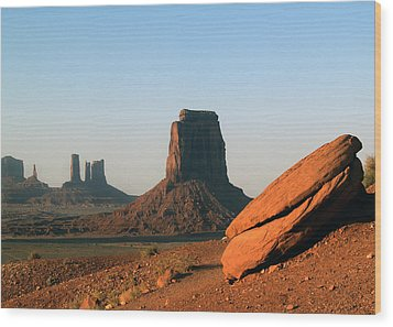 Monument Valley Afternoon Wood Print by Jeff Brunton