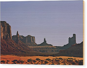 Monument Valley - An Iconic Landmark Wood Print by Christine Till