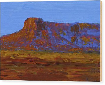 Monument Valley At Sunset Wood Print by Fred Wilson