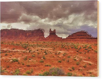 Monument Valley Wood Print by Inspirowl Design