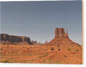 Monument Valley - Beauty Created By Nature Wood Print by Christine Till