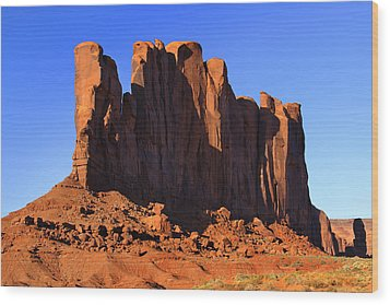 Monument Valley - Camel Butte Wood Print by Mike McGlothlen