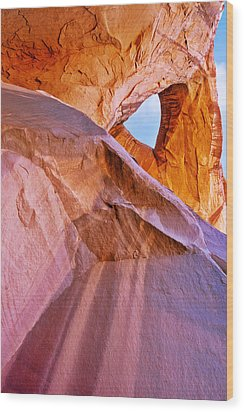 Monument Valley - Eye Of The Sun Wood Print by Christine Till