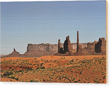 Monument Valley - Icon Of The West Wood Print by Christine Till