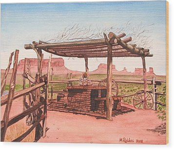 Monument Valley Overlook Wood Print by Mike Robles