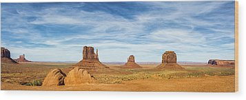 Monument Valley Panorama - Arizona Wood Print