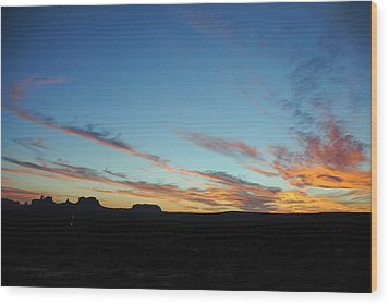 Monument Valley Sunset 2 Wood Print by Jeff Brunton