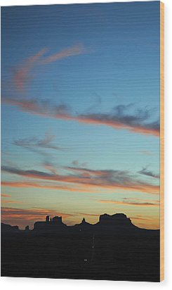 Monument Valley Sunset 3 Wood Print by Jeff Brunton