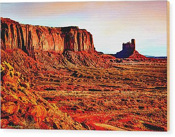 Monument Valley Sunset By Bob Johnston Wood Print by Bob and Nadine Johnston