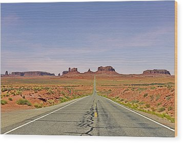 Monument Valley - The Classic View Wood Print by Christine Till