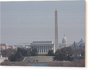 Monument View From Iwo Jima Memorial - 12121 Wood Print by DC Photographer
