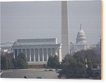 Monument View From Iwo Jima Memorial - 12122 Wood Print by DC Photographer