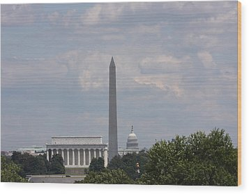 Monument View From Iwo Jima Memorial - 12123 Wood Print by DC Photographer