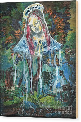 Monumental Tree Goddess Wood Print by Genevieve Esson