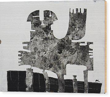 Monumentum No 1 Wood Print by Mark M  Mellon