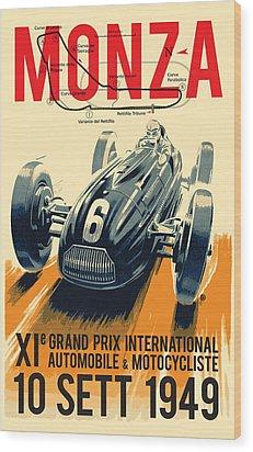 Monza Grand Prix Wood Print by Gary Grayson