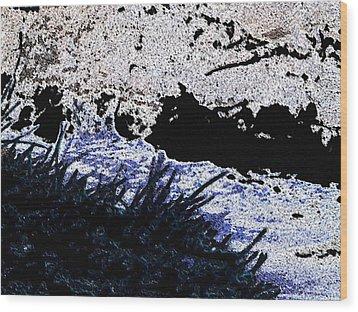 Mood River Wood Print by Lenore Senior