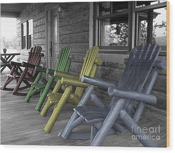 Mood Seating Wood Print by Janice Westerberg