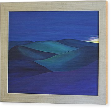 Moody Blue Wood Print by Aileen Carruthers