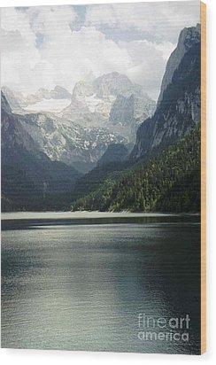 Moody Dachstein Wood Print