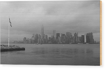 Moody Manhattan Wood Print