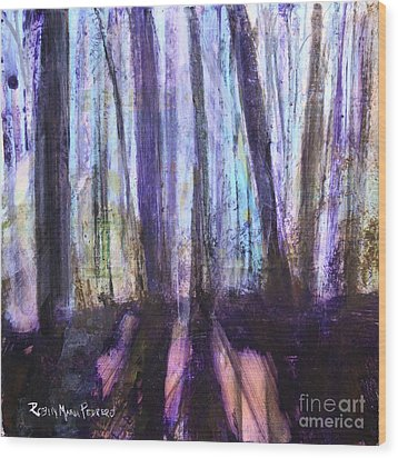 Moody Woods Wood Print