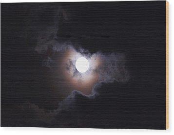 Moon 2 Wood Print