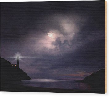 Moon Bay Wood Print by Robert Foster