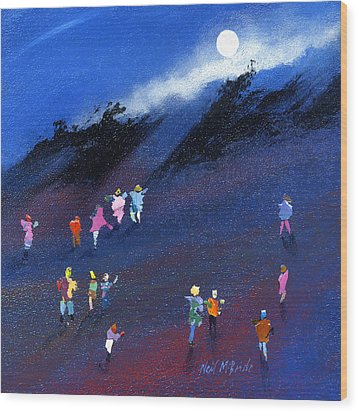 Moon Beam Search Wood Print by Neil McBride