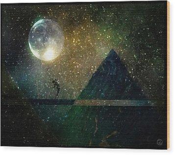 Moon Dance Wood Print by Gun Legler