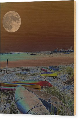 Moon Dreams Wood Print by Robert McCubbin