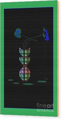 Moon Flower 1 Wood Print by Ann Calvo