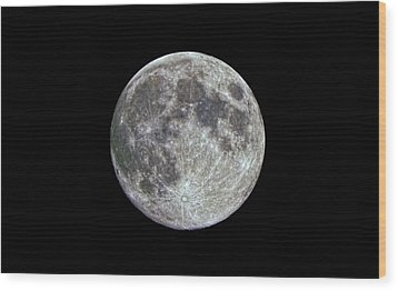 Wood Print featuring the photograph Moon Hdr by Greg Reed