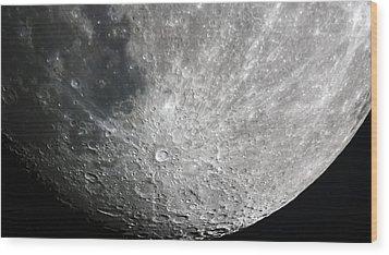 Moon Hi Contrast Wood Print by Greg Reed