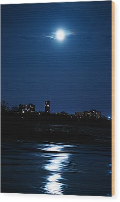 Moon Light Wood Print by Andre Faubert