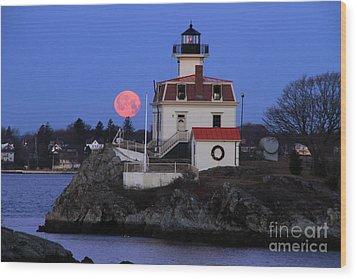 Moon-light Wood Print by Butch Lombardi