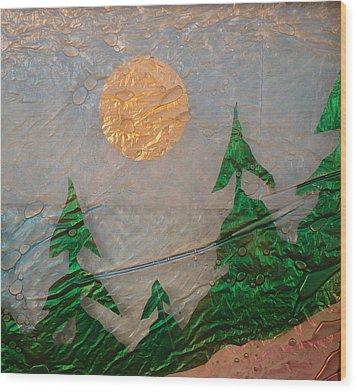 Moon Mist  Wood Print by Rick Silas