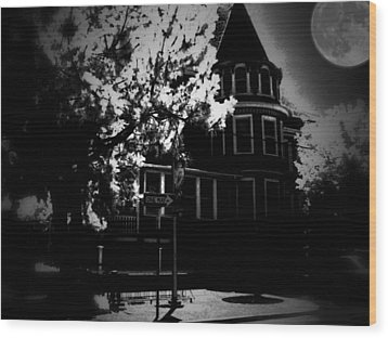 Wood Print featuring the photograph Moon N U by Robert McCubbin