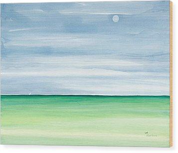 Moon Over Islamorada Wood Print by Michelle Wiarda