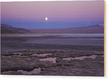 Wood Print featuring the photograph Moon Over Laguna Colorada by Lana Enderle
