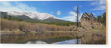 Moon Over St. Malo Wood Print by Shane Bechler
