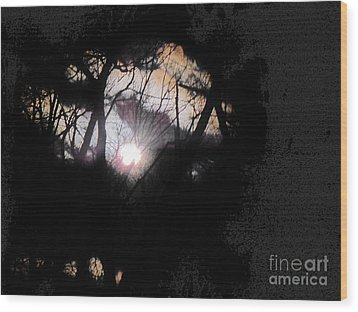 Moon Rays Wood Print by Sharon Costa