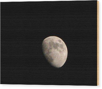 Moon Wood Print by Rheo